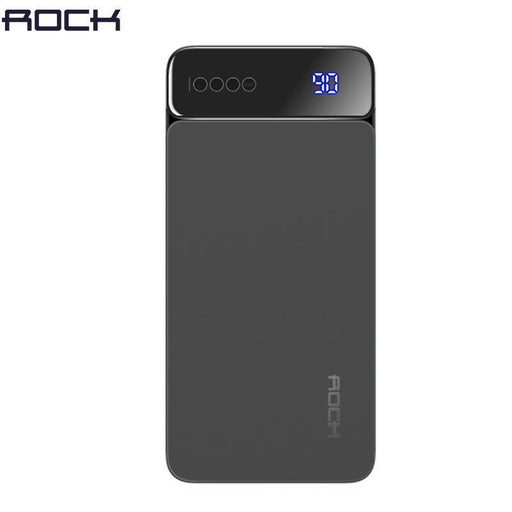 Digital Display Lcd Power Bank For Xiaomi Mi, Rock Portable 10000Mah Power Bank Phone External-Power Bank-LeadingBrands Digital Direct Store-Black-EpicWorldStore.com