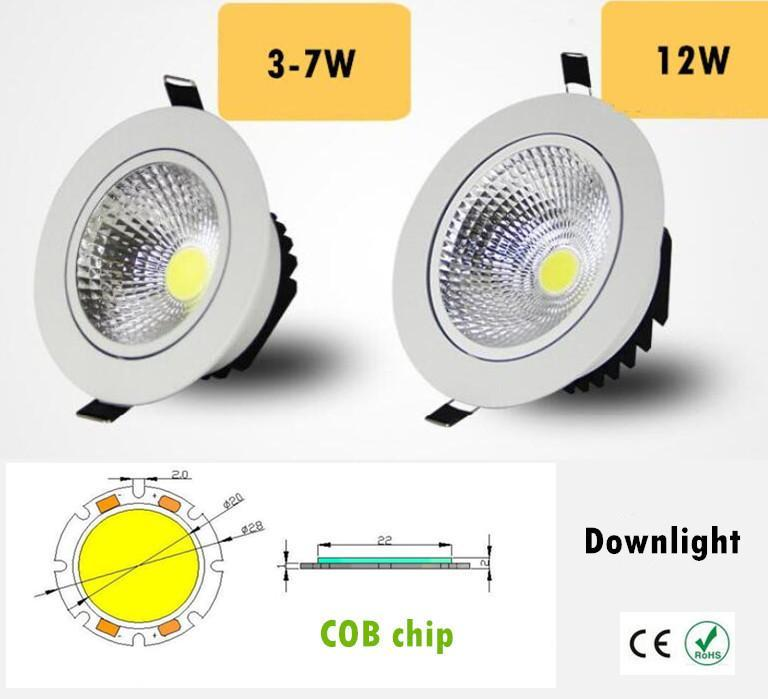 2019 New Style Dimmable Led Downlight Light Cob Ceiling Spot Light 7w 10w 85-265v Ceiling Recessed Lights Indoor Lighting White Black Silver Ceiling Lights & Fans Lights & Lighting