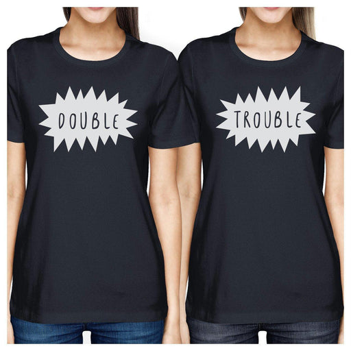 62d3091490 Double Trouble Bff Matching Navy Shirts-Apparel & Accessories-365 Printing -SMALL-