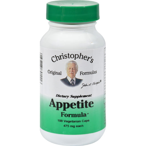 Dr. Christopher'S Appetite Formula - 475 Mg - 100 Vegetarian Capsules-Eco-Friendly Home & Grocery-Dr. Christopher's Formulas-EpicWorldStore.com