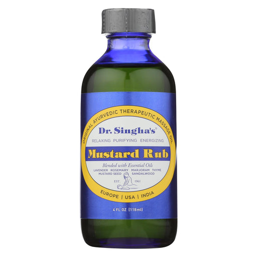 Dr. Singha'S Mustard Rub - 4 Fl Oz-Eco-Friendly Home & Grocery-Dr. Singha's Mustard Bath-EpicWorldStore.com