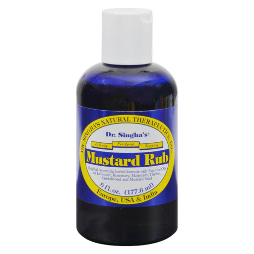 Dr. Singha'S Mustard Rub - 6 Oz-Eco-Friendly Home & Grocery-Dr. Singha's Mustard Bath-EpicWorldStore.com