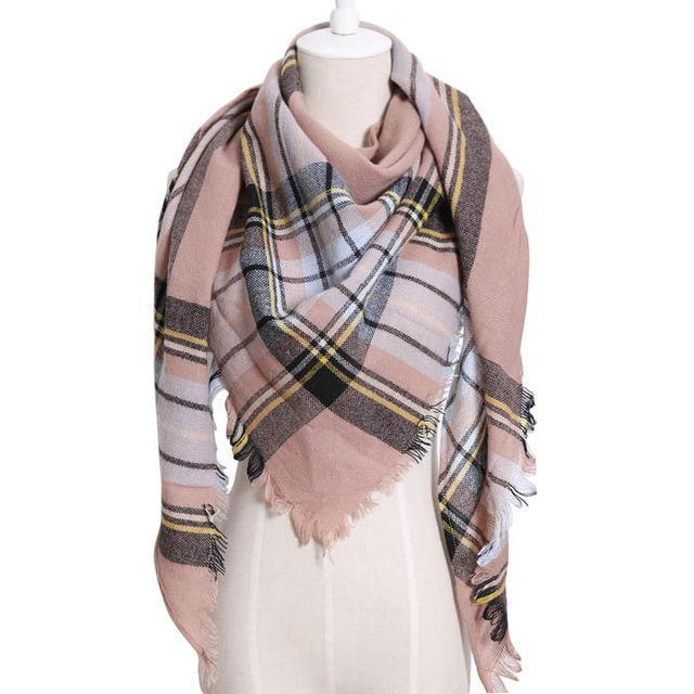 Drop Ship Winter Brand Women Scarf Warm In Winter Plaid Shawl Wool Blanket Scarves-Accessories-KUNMAO Apparel Store-T JS kaqi-EpicWorldStore.com