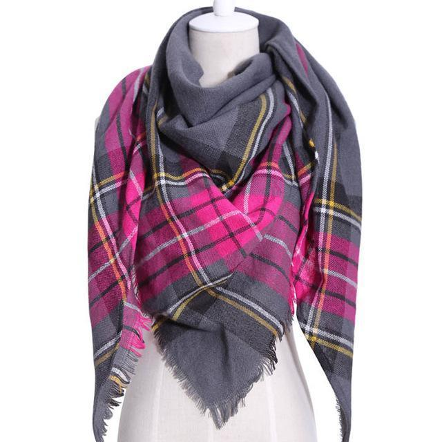 Drop Ship Winter Brand Women Scarf Warm In Winter Plaid Shawl Wool Blanket Scarves-Accessories-KUNMAO Apparel Store-T JS Meired-EpicWorldStore.com
