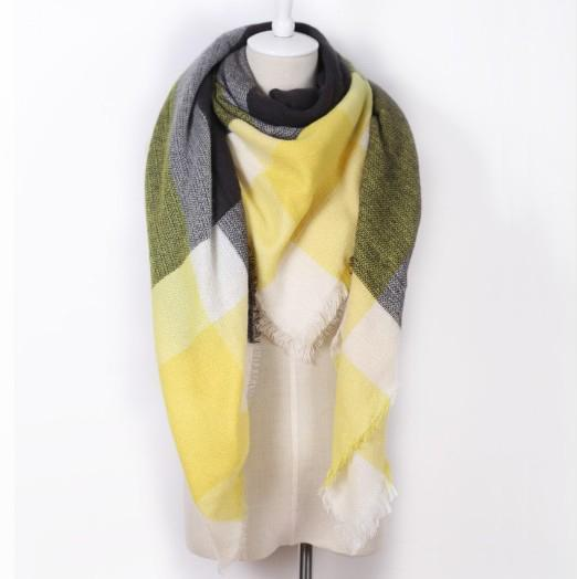 Drop Ship Winter Brand Women Scarf Warm In Winter Plaid Shawl Wool Blanket Scarves-Accessories-KUNMAO Apparel Store-triangle color18-EpicWorldStore.com