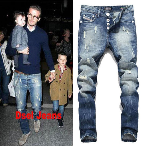 Dsel Brand Men Jeans Washed Printed Jeans For Men Casual Pants Italian Designer Jeans-Jeans-Balplein Store-29-EpicWorldStore.com