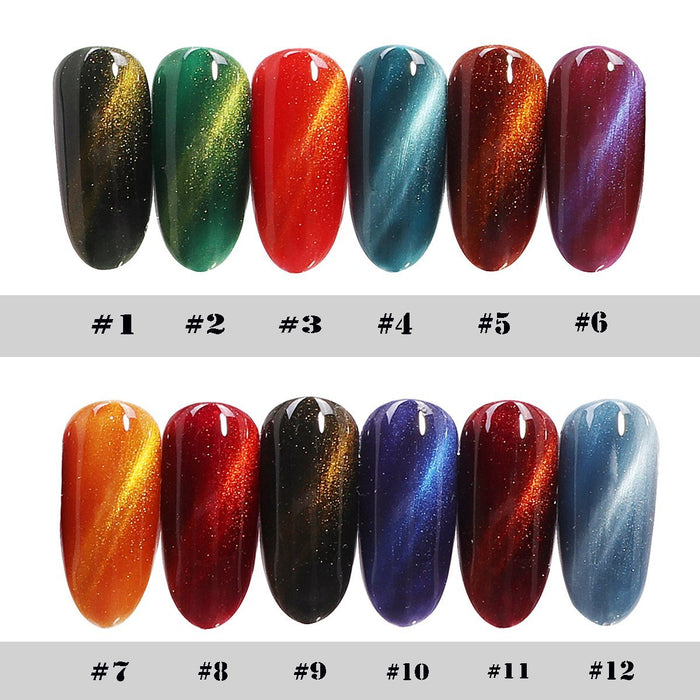 Dual End Replaceable Nail Art Magnet Stick 12Ml Cat Eye Gel Polish Varnish 3D Strip Effect Shaping-Nails & Tools-my-Yeah nailart Store-magnet-EpicWorldStore.com