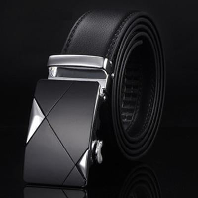 [Dwts]Designer Leather Strap Male Belt Automatic Buckle Belts For Men Girdle Wide Men Belt Waistband-Accessories-DWTS Official Store-NE304 silvery-90cm less25 Inch-EpicWorldStore.com