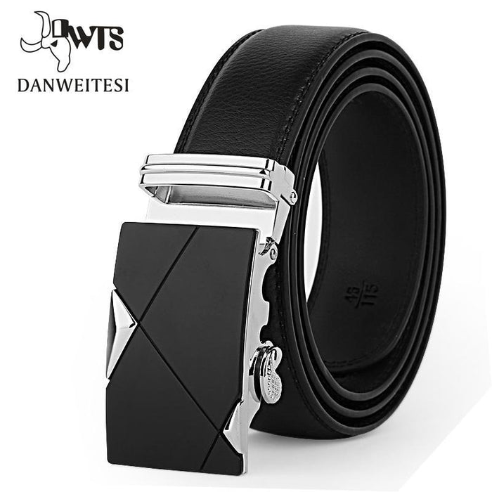 [Dwts]Designer Leather Strap Male Belt Automatic Buckle Belts For Men Girdle Wide Men Belt Waistband-Accessories-DWTS Official Store-NE305 gold-90cm less25 Inch-EpicWorldStore.com