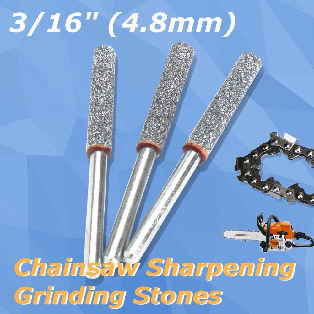 "Dwz 6Pcs 3/16"" 4.8Mm Diamond Chainsaw Sharpener Burr Stone File Chain Saw Sharpening-Abrasive Tools-XLElephant Tools Lamps Store-EpicWorldStore.com"