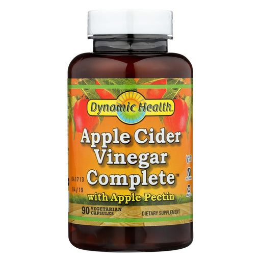 Dynamic Health Apple Cider Vinegar Complete With Apple Pectin - 90 Vegetarian Capsules-Eco-Friendly Home & Grocery-Dynamic Health-EpicWorldStore.com