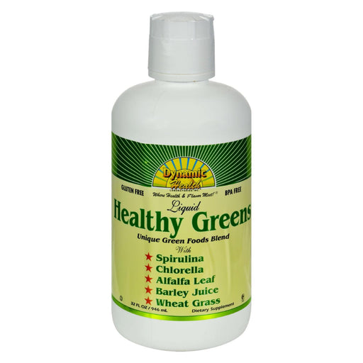 Dynamic Health Healthy Greens Liquid - 32 Fl Oz-Eco-Friendly Home & Grocery-Dynamic Health-EpicWorldStore.com