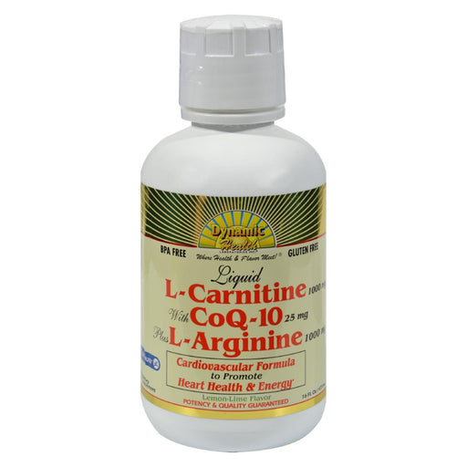Dynamic Health Liquid L-Carnitine With Coq-10 Plus L-Arginine Lemon Lime - 16 Fl Oz-Eco-Friendly Home & Grocery-Dynamic Health-EpicWorldStore.com