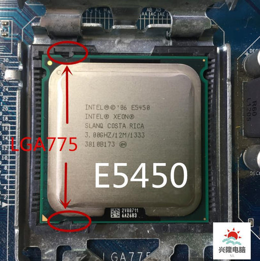 E5450 E5450 Intel Xeon Slanq Or Slbbm Quad-Core 3.0Ghz 12Mb 1333Mhz Socket 775 Works On Lga 775-Computer Components-XL computer cpu Store-EpicWorldStore.com