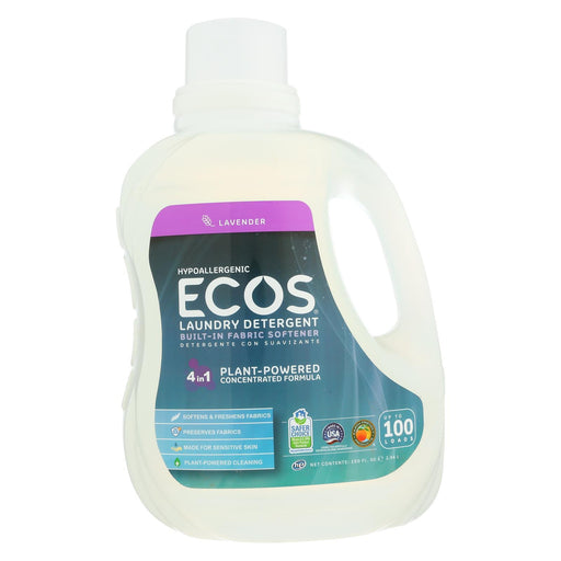 Earth Friendly Ecos Ultra 2X All Natural Laundry Detergent - Lavender - 100 Fl Oz-Eco-Friendly Home & Grocery-Earth Friendly-EpicWorldStore.com