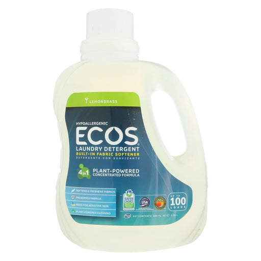 Earth Friendly Ecos Ultra 2X All Natural Laundry Detergent - Lemongrass - 100 Fl Oz-Eco-Friendly Home & Grocery-Earth Friendly-EpicWorldStore.com
