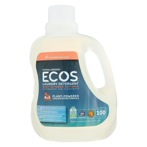 Earth Friendly Ecos Ultra 2X All Natural Laundry Detergent - Magnolia And Lily - 100 Oz-Eco-Friendly Home & Grocery-Earth Friendly-EpicWorldStore.com