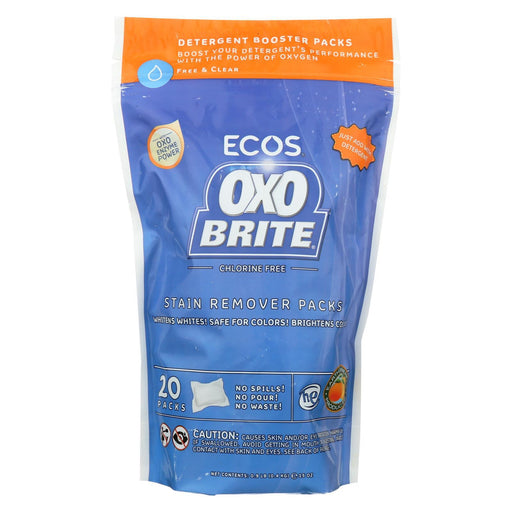 Earth Friendly Laundry Booster Pods - Oxobrite - Free And Clear - 20 Pods - 14.5 Oz - Case Of 6-Eco-Friendly Home & Grocery-Earth Friendly-EpicWorldStore.com