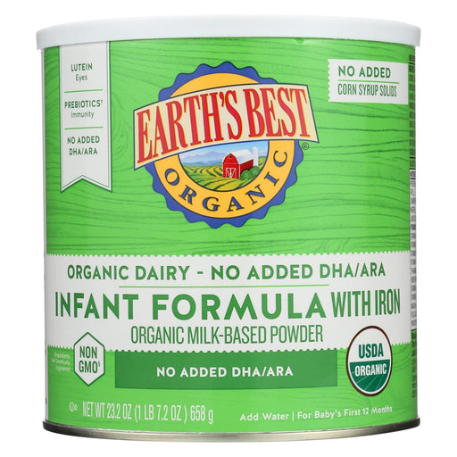 Earth'S Best Infant Formula - Organic - Iron - Case Of 4 - 23.2 Oz-Eco-Friendly Home & Grocery-Earth's Best-EpicWorldStore.com