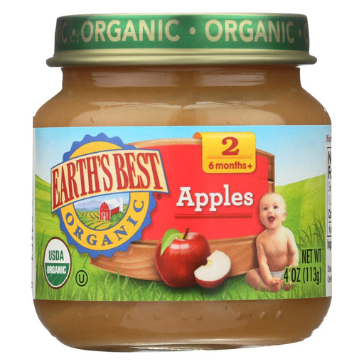 Earth'S Best Organic Apples Baby Food - Stage 2 - Case Of 12 - 4 Oz.-Eco-Friendly Home & Grocery-Earth's Best-EpicWorldStore.com