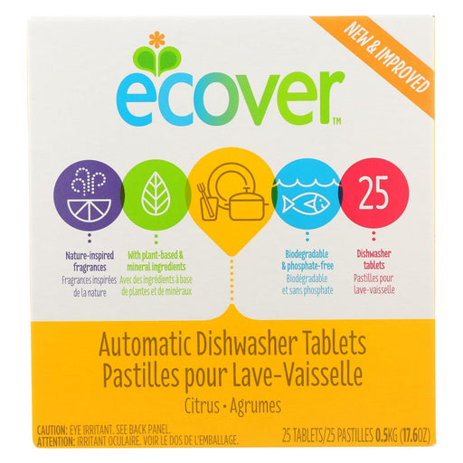 Ecover Automatic Dishwasher Tabs - 17.6 Oz-Eco-Friendly Home & Grocery-Ecover-EpicWorldStore.com