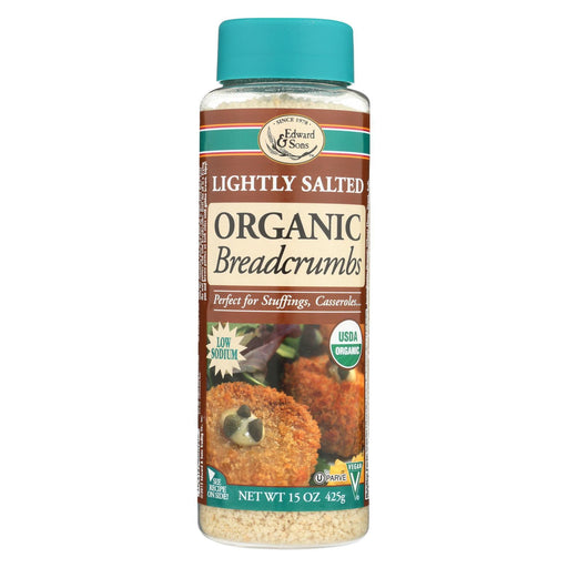 Edward And Sons Organic Breadcrumbs - Lightly Salted - Case Of 6 - 15 Oz.-Eco-Friendly Home & Grocery-Edward And Sons-EpicWorldStore.com