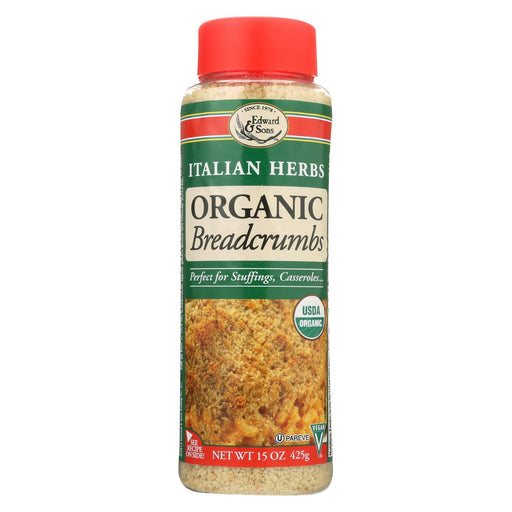 Edward And Sons Organic Italian Herb Breadcrumbs - Case Of 6 - 15 Oz.-Eco-Friendly Home & Grocery-Edward And Sons-EpicWorldStore.com
