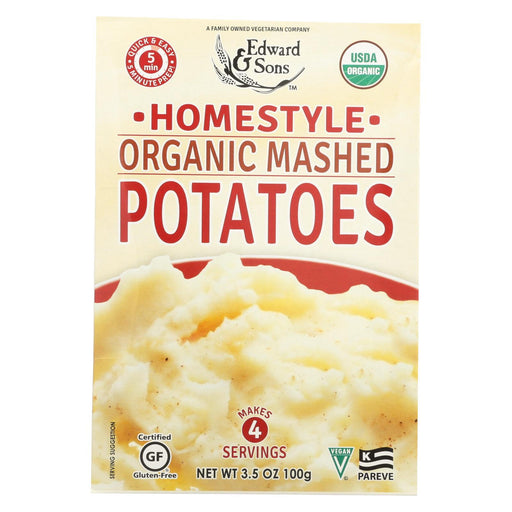 Edward And Sons Organic Mashed Potatoes - Home Style - Case Of 6 - 3.5 Oz.-Eco-Friendly Home & Grocery-Edward And Sons-EpicWorldStore.com