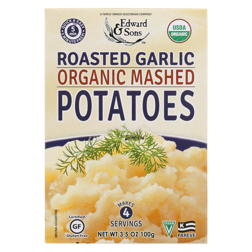 Edward And Sons Organic Mashed Potatoes - Roasted Garlic - Case Of 6 - 3.5 Oz.-Eco-Friendly Home & Grocery-Edward And Sons-EpicWorldStore.com