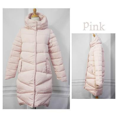 Elexs Women Winter Coat Long Slim Thickened Turtleneck Warm Jacket Down Cotton Padded Jacket-Jackets & Coats-Elexs Appereal Store-Pink-M-EpicWorldStore.com