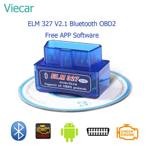 Elm 327 V2.1 Bluetooth Obd2 Smart Scan Tool Eml327 Car Diagnostic Tool Scanner Auto-Car Repair Tools-Flx Car Electric Store-Static bag(recommand-EpicWorldStore.com