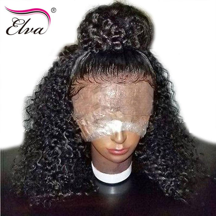 308412c396f Elva Hair Lace Front Human Hair Wigs For Black Women Brazilian Water Wave  Remy Hair Wigs 14-24'' Pre