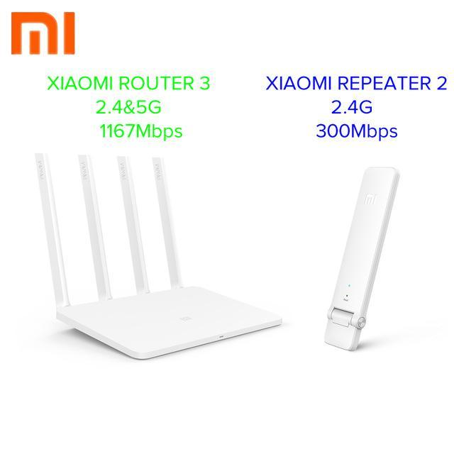 English Version Xiaomi Mi Wifi Router 3 11Ac Dual Band 2 4/5G 1167Mbps 128M  Rom/Ram App Control