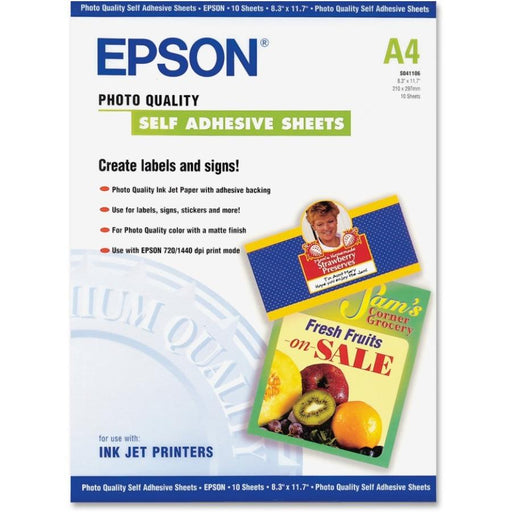 Epson A4 Self-Adhesive Photo Paper-Computers & Electronics-Epson Print-EpicWorldStore.com