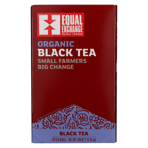 Equal Exchange Organic Black Tea - Black Tea - Case Of 6 - 20 Bags-Eco-Friendly Home & Grocery-Equal Exchange-EpicWorldStore.com