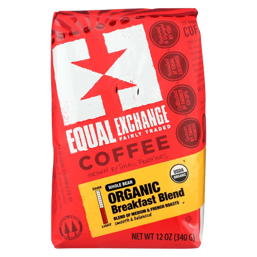 Equal Exchange Organic Whole Bean Coffee - Breakfast Blend - Case Of 6 - 12 Oz.-Eco-Friendly Home & Grocery-Equal Exchange-EpicWorldStore.com