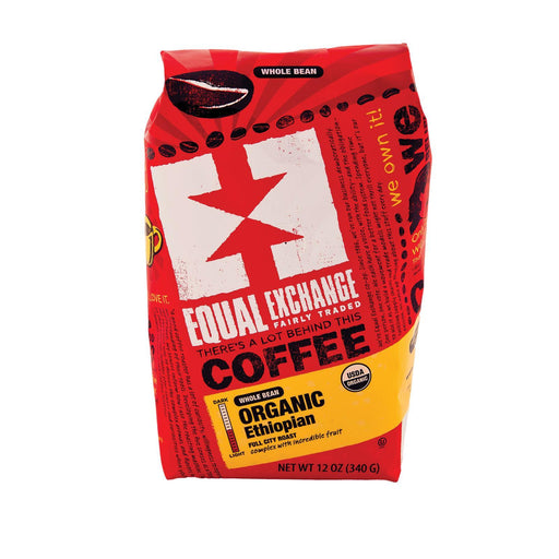 Equal Exchange Organic Whole Bean Coffee - Ethiopian - Case Of 6 - 12 Oz.-Eco-Friendly Home & Grocery-Equal Exchange-EpicWorldStore.com