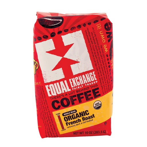Equal Exchange Organic Whole Bean Coffee - French Roast - Case Of 6 - 10 Oz.-Eco-Friendly Home & Grocery-Equal Exchange-EpicWorldStore.com