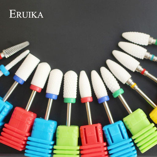Eruika 13 Type Ceramic Nail Drill Bits Manicure Machine Accessories Rotary Electric Nail Files-ERUIKA Official Store-M1-EpicWorldStore.com