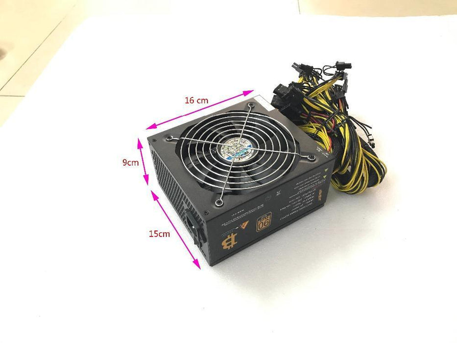 Eth Zcash Miner Gold Power Kenwei 1800W With Power Cable Eth Miner Power  Supply For R9 380/390 Rx