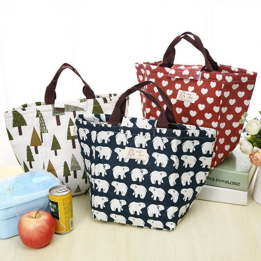 Etya Portable Insulated Canvas Lunch Bag Thermal Food Picnic Lunch Bags For Women Kids Men-Functional Bags-UniStyle Bag Store-1-EpicWorldStore.com