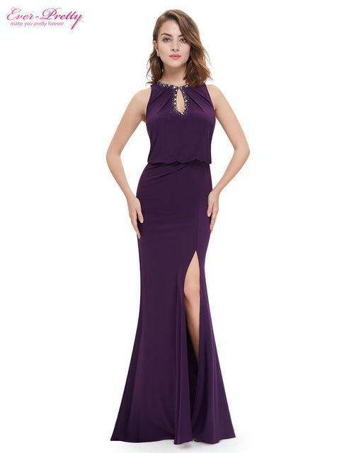 Evening Dress Ever Pretty Ep08383 Elegant Neckline Women Long Stylish On  Line Plus Size Evening