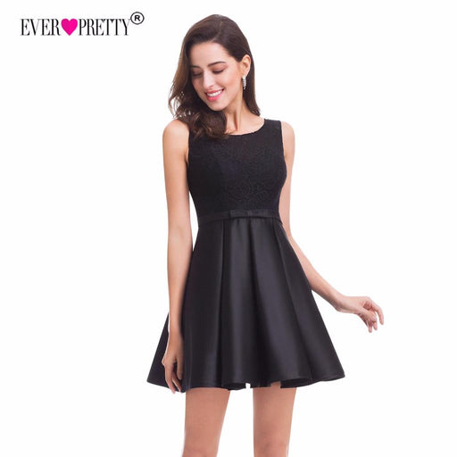 c9b18d99e4407 Ever Pretty Lace Homecoming Dresses New A Line Sleeveless Little Black Dress  Party Gowns For-