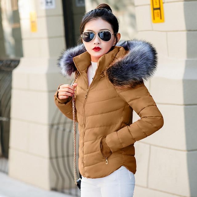 Fake Raccoon Fur Collar Parka Down Cotton Jacket Winter Jacket Women Thick Snow Wear Coat Lady-Jackets & Coats-GZGOG Official Store-Camel-S-EpicWorldStore.com
