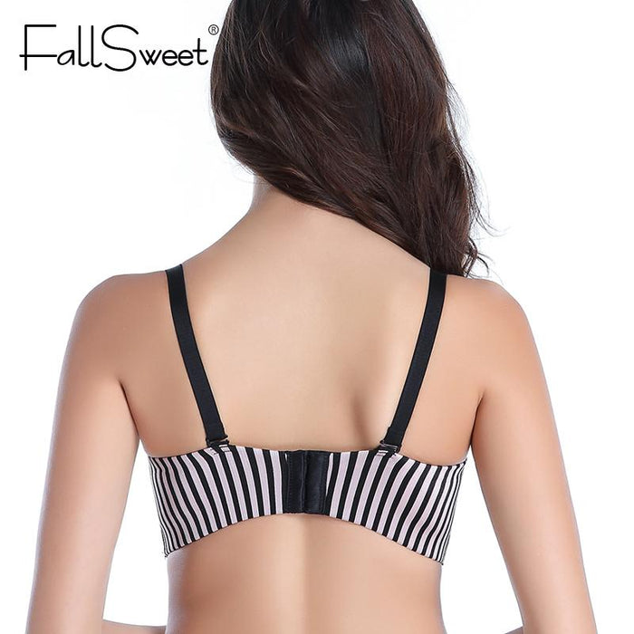 f7a834b79dcb0 Fallsweet Padded Push Up Bras Add Two Cups Brassiere Unlined Seamless Bra  For Women A B Cups