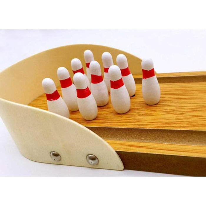 Family Funny Toy Game Mini Board Bowling Desktop Table Game Wooden Bowling For