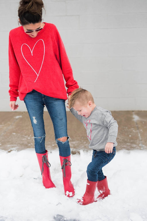 Family Matching Clothes Women Mother Baby Boy Kid Long Sleeve Shirt Sweats Sweatshirt Valentine-Boys Clothing-coloourful-S-EpicWorldStore.com