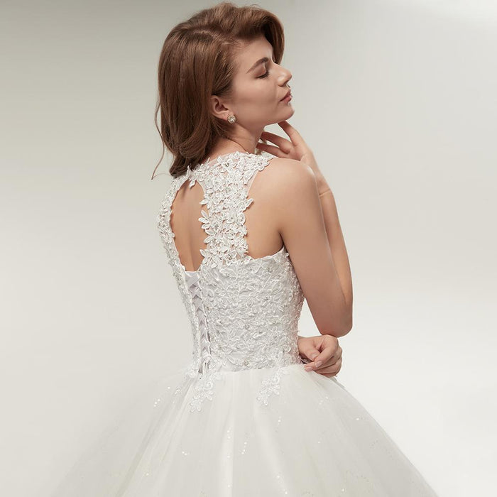 Fansmile Korean Lace Up Ball Gown Quality Wedding Dresses Alibaba  Customized Plus Size Bridal-Wedding 11aa5a1c7918