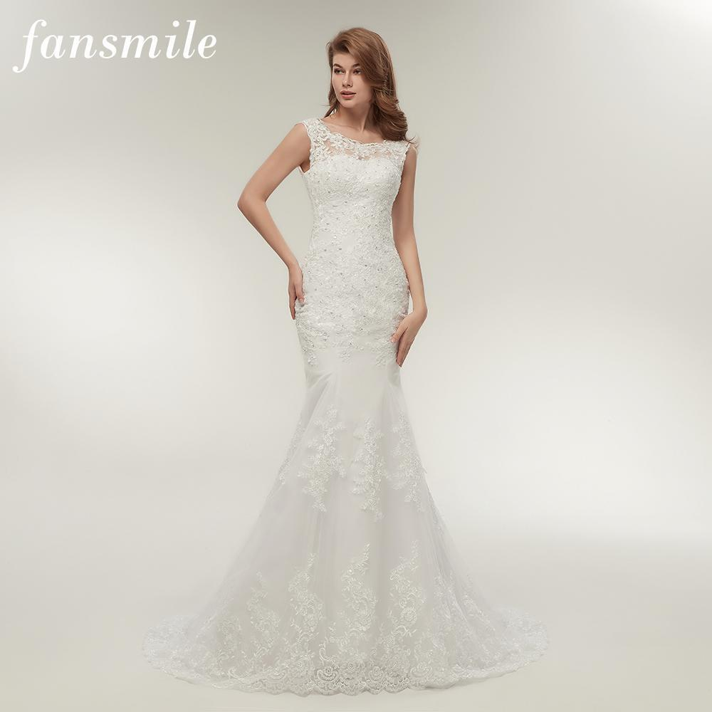 Fansmile Lace Mermaid Wedding Dresses Plus Size Bridal Alibaba ...