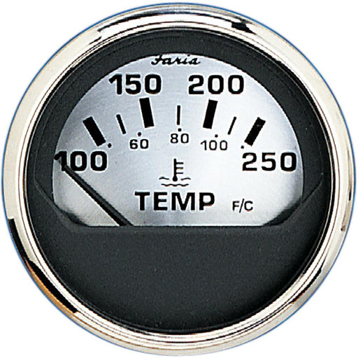 "Faria 2"" Water Temp Gauge (100-250F) - Spun Silver-Marine Products-Faria Beede Instruments-EpicWorldStore.com"